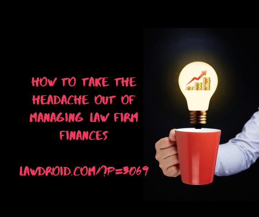 Managing law firm finances